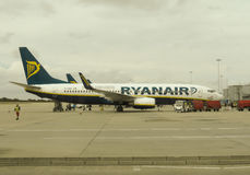 RyanAir Boeing 737-800 parked in Stansted Stock Images