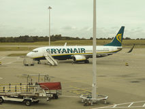 RyanAir Boeing 737-800 parked in Stansted Royalty Free Stock Image