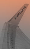 Ryanair among the clouds royalty free stock photos