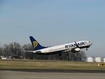 Ryanair entfernt sich Lizenzfreies Stockfoto