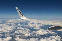 Ryanair fönstersikt Royaltyfri Fotografi