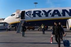 Ryanair flight royalty free stock photos