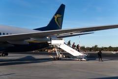 Ryanair flight stock photography