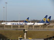 Ryanair-Flugzeuge Lizenzfreie Stockfotografie