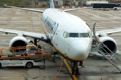 Ryanair flygplan Royaltyfria Foton