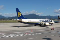 Ryanair flygplan Boeing 737-800 Arkivbild