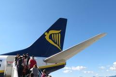 Ryanair flygplan Boeing 737-800 Arkivfoto
