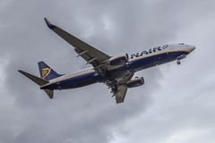 Ryanair jet close-up Stock Images