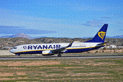 Ryanair Jigsaw Puzzle Royalty Free Stock Image