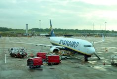 Ryanair linii lotniczej firma Obrazy Stock