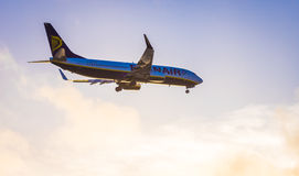 Ryanair plane landing Royalty Free Stock Image