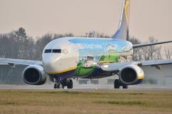 Ryanair plane in special painting Stock Photos