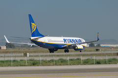 Ryanair on the runway Royalty Free Stock Photography