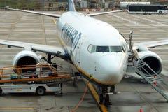 Ryanair samolot Zdjęcia Royalty Free