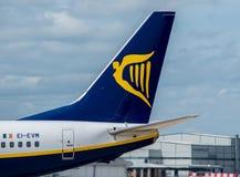Ryanair samolotu ogon zdjęcia royalty free