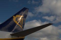Ryanair svans Arkivbilder