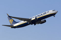 Ryanair on take off. Luqa, Malta May 19, 2017: Ryanair Boeing 737-8AS [EI-FOV] taking off runway 13 Royalty Free Stock Image
