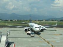 Ryanair-vliegtuigen Royalty-vrije Stock Foto's