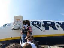 Ryanair-vliegtuigen Royalty-vrije Stock Afbeelding