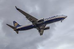 Ryanair voyagent en jet le plan rapproché Images stock