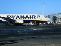 Ryanairs aircraft at London Stansted Airport stock photos
