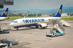 Ryaniar flight at the airport Stock Image