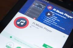 Ryazan, Ρωσία - 19 Απριλίου 2018 - φορέας κινητό app μουσικής pi στην επίδειξη του PC ταμπλετών Στοκ εικόνα με δικαίωμα ελεύθερης χρήσης