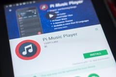 Ryazan, Ρωσία - 19 Απριλίου 2018 - φορέας κινητό app μουσικής pi στην επίδειξη του PC ταμπλετών Στοκ Φωτογραφία