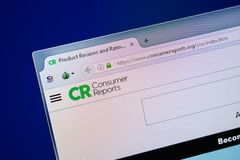 Ryazan, Ρωσία - 24 Ιουλίου 2018: Αρχική σελίδα του ιστοχώρου ConsumerReports στην επίδειξη του PC Url - ConsumerReports org στοκ εικόνες