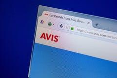 Ryazan, Ρωσία - 11 Ιουλίου 2018: Avis ιστοχώρος COM στην επίδειξη του PC στοκ φωτογραφία με δικαίωμα ελεύθερης χρήσης