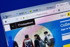 Ryazan, Ρωσία - 16 Ιουνίου 2018: Αρχική σελίδα του ιστοχώρου CollegeBoard στην επίδειξη του PC, url - CollegeBoard org στοκ φωτογραφίες με δικαίωμα ελεύθερης χρήσης