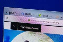 Ryazan, Ρωσία - 16 Ιουνίου 2018: Αρχική σελίδα του ιστοχώρου CollegeBoard στην επίδειξη του PC, url - CollegeBoard org στοκ εικόνες