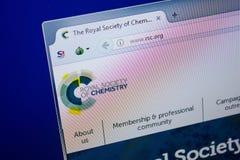 Ryazan, Ρωσία - 26 Ιουνίου 2018: Αρχική σελίδα RSC του ιστοχώρου στην επίδειξη του PC URL - RSC org στοκ φωτογραφίες με δικαίωμα ελεύθερης χρήσης