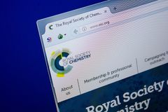 Ryazan, Ρωσία - 26 Ιουνίου 2018: Αρχική σελίδα RSC του ιστοχώρου στην επίδειξη του PC URL - RSC org στοκ φωτογραφία με δικαίωμα ελεύθερης χρήσης