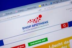 Ryazan, Ρωσία - 5 Ιουνίου 2018: Η αρχική σελίδα κατάστημα-apotheke-ψωνίζει ιστοχώρος στην επίδειξη του PC, url - κατάστημα-apothe Στοκ εικόνα με δικαίωμα ελεύθερης χρήσης