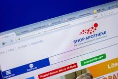Ryazan, Ρωσία - 5 Ιουνίου 2018: Η αρχική σελίδα κατάστημα-apotheke-ψωνίζει ιστοχώρος στην επίδειξη του PC, url - κατάστημα-apothe Στοκ Εικόνες