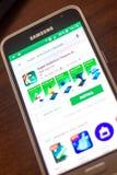 Ryazan, Ρωσία - 4 Μαΐου 2018: Έξοχο εικονίδιο αντιιών στον κατάλογο κινητών apps στην επίδειξη του τηλεφώνου κυττάρων Στοκ Φωτογραφία