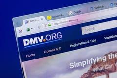 Ryazan, Ρωσία - 20 Μαΐου 2018: Αρχική σελίδα του ιστοχώρου DMV στην επίδειξη του PC, url - DMV org στοκ φωτογραφία