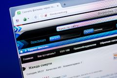 Ryazan, Ρωσία - 27 Μαΐου 2018: Αρχική σελίδα του ιστοχώρου FilmiTorrent στην επίδειξη του PC, url - FilmiTorrent org στοκ φωτογραφίες με δικαίωμα ελεύθερης χρήσης