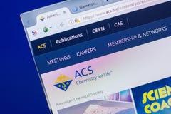 Ryazan, Ρωσία - 13 Μαΐου 2018: Ιστοχώρος Acs στην επίδειξη του PC, url - Acs org στοκ εικόνα