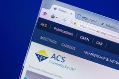 Ryazan, Ρωσία - 13 Μαΐου 2018: Ιστοχώρος Acs στην επίδειξη του PC, url - Acs org στοκ εικόνα με δικαίωμα ελεύθερης χρήσης