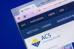 Ryazan, Ρωσία - 13 Μαΐου 2018: Ιστοχώρος Acs στην επίδειξη του PC, url - Acs org στοκ φωτογραφία με δικαίωμα ελεύθερης χρήσης