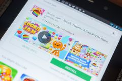Ryazan, Ρωσία - 16 Μαΐου 2018: App μαρμελάδας μπισκότων εικονίδιο ή λογότυπο στον κατάλογο κινητών apps Στοκ φωτογραφία με δικαίωμα ελεύθερης χρήσης