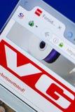 Ryazan, Ρωσία - 13 Μαΐου 2018: VG ιστοχώρος στην επίδειξη του PC, url - VG Αριθ. Στοκ φωτογραφία με δικαίωμα ελεύθερης χρήσης