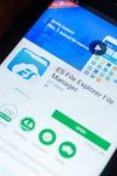Ryazan, Ρωσία - 21 Μαρτίου 2018 - εξερευνητής και διευθυντής κινητό app ES αρχείων στην επίδειξη του PC ταμπλετών Στοκ φωτογραφίες με δικαίωμα ελεύθερης χρήσης