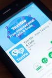 Ryazan, Ρωσία - 21 Μαρτίου 2018 - κείμενο εγώ κινητό app στην επίδειξη του PC ταμπλετών Στοκ φωτογραφία με δικαίωμα ελεύθερης χρήσης
