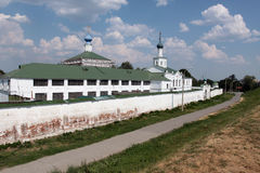 Ryazan city. The kremlin. Wall of the kremlin in Ryazan city Royalty Free Stock Photos
