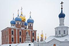 Ryazan der Kreml, Winter stockbilder