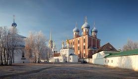 Ryazan het Kremlin XII eeuw, Ryazan, Rusland Stock Fotografie