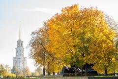 Ryazan Kremlin on autumn - ansamble of ortodox church Stock Photography